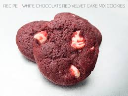 cafe craftea recipe white chocolate red velvet cake mix cookies