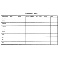 Yearly Lesson Plan Template how to create monthly and yearly plans for the classroom includes a