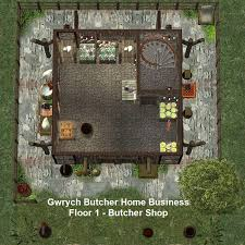 mod the sims gwrych medieval butcher and candlestick maker home