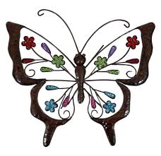 Large Butterfly Decorations by Butterfly Outdoor Wall Decor Garden Art Outdoor Decor