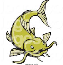 royalty free green catfish vector logo 2 by patrimonio 2623