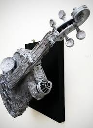 millennium falcon violin makes for a vibrant conversational piece