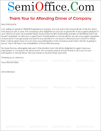 thanksgiving letter to employees you letter to attendees for attending the company dinner
