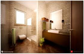 bathroom scenic brown and beige mod bathroom interior design