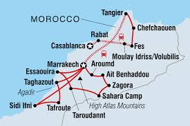 Map Of Morocco And Spain by Morocco Tours U0026 Travel Intrepid Travel Au