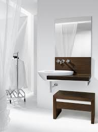 White Vanity Stool For Bathroom by Bahtroom Contemporary Wash Basin Under Silver Crane Closed Simple