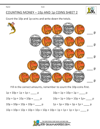 free counting money worksheets uk coins