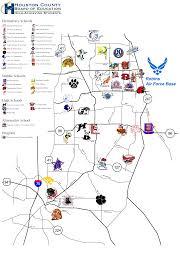 Bonaire Map Houston County Schools