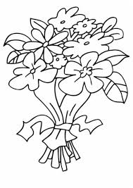dibujo ramos flores colorear dibujos infantiles