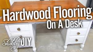Build Wooden Desktop by Install Hardwood Flooring On A Desk Or Countertop Youtube