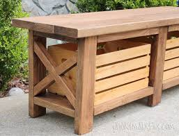 Outdoor Patio Storage Bench Plans by Best 25 Outdoor Wooden Benches Ideas On Pinterest Wood Bench