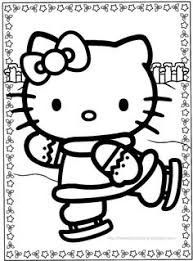 kitty christmas coloring pages disney kitty