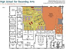 school floor plan pdf high school for recording arts existing plan new
