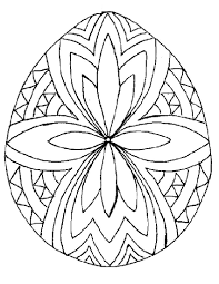 easter egg templates coloring page free download