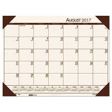 desk pad calendar 2017 house of doolittle hod012541 recycled ecotones academic desk pad