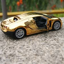 bugatti veyron gold plating 1 32 model cars toys collection u0026gifts