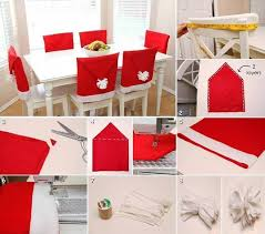 christmas chair back covers santa hat chair back covers diy cozy home