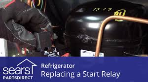 how to replace a refrigerator compressor start relay youtube