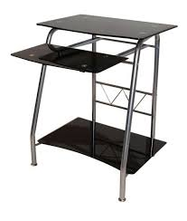 Small Black Computer Desk Glass Computer Desk Combine Steel