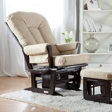 Rocking Chair Dutailier Dutailier Modern Grand 84 Glider U0026 Ottoman Espresso U0026 Beige