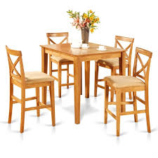 Counter Height Table And Chairs Set Oak Counter Height Table And 4 Counter Chairs 5 Piece Dining Set