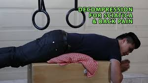 how to decompress spine without inversion table decompression for sciatica and low back pain youtube