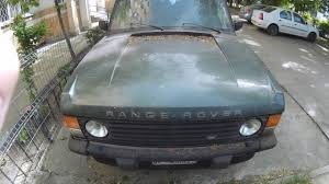 green range rover classic abandoned range rover classic turbo d old car from the 90s youtube