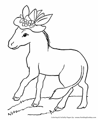 farm animals coloring page farm animal coloring pages donkey with a hat coloring page and