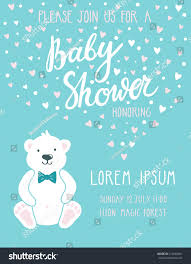 Baby Shower Invitation Cards Baby Shower Invitation Card Cute Childish Stock Vector 414549661