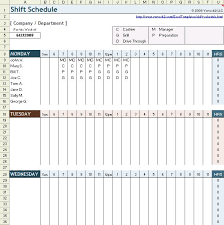 download a free work shift schedule spreadsheet for excel ideal