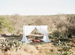 graceful desert wedding at enchanted rock ruffled
