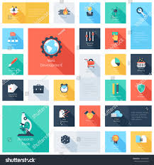 vector collection colorful flat search engine stock vector
