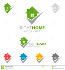 home and design logo real estate with check mark logo stock vector image 79585088