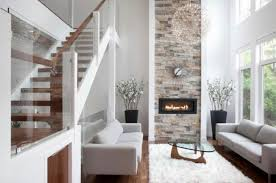 family room designs with fireplace impressive wooden stairs for modern family room design ideas with