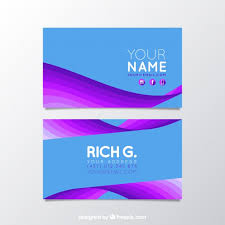 Flat Design Business Card Abstract Business Card With Flat Design Vector Free Download