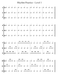 free band u0026 orchestra worksheets rhythm notes note names and