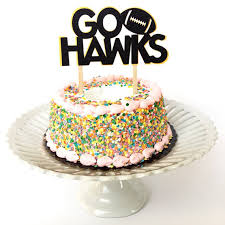 sports cake toppers glitter go hawks football sports cake toppers decorations college