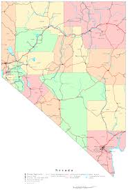 nevada counties map nevada printable map