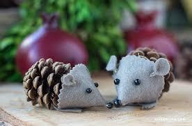 felt pinecone hedgehog lia griffith