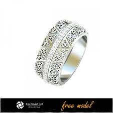 wedding ring model cad unique celtic wedding ring free 3d model