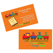 childcare business cards a better choice childcare business card tmalone marketing