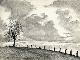 photos landscape drawing in pencil for beginners drawing art