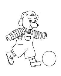 coloriage petit ours brun a l ecole