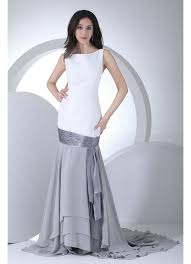 white and grey wedding dress style mermaid white and grey backless wedding dress