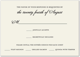 wedding response card traditional ecru rsvp cards wedding response cards 28607