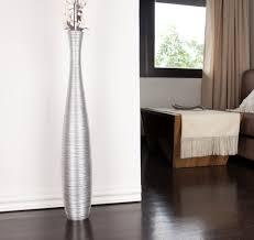 Wooden Vases Uk Tall Floor Vase 90 Cm Mango Wood Silver Coloured Amazon Co Uk