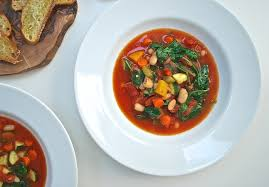 minestrone soup with parmesan bruschetta life is but a dish