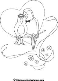 love birds wedding coloring holiday coloring images 2