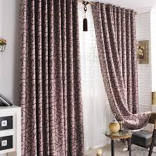 Purple Valances For Windows Ideas Bedroom Stylish Fabulous Blackout Flocking Blend Heat Insulation