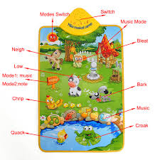 Baby Carpet Baby Children Farm Animal Music Sound Touch Play Singing Gym